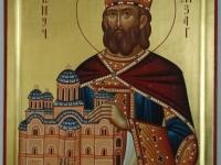 Вмч. князь Лазарь. Современная икона.