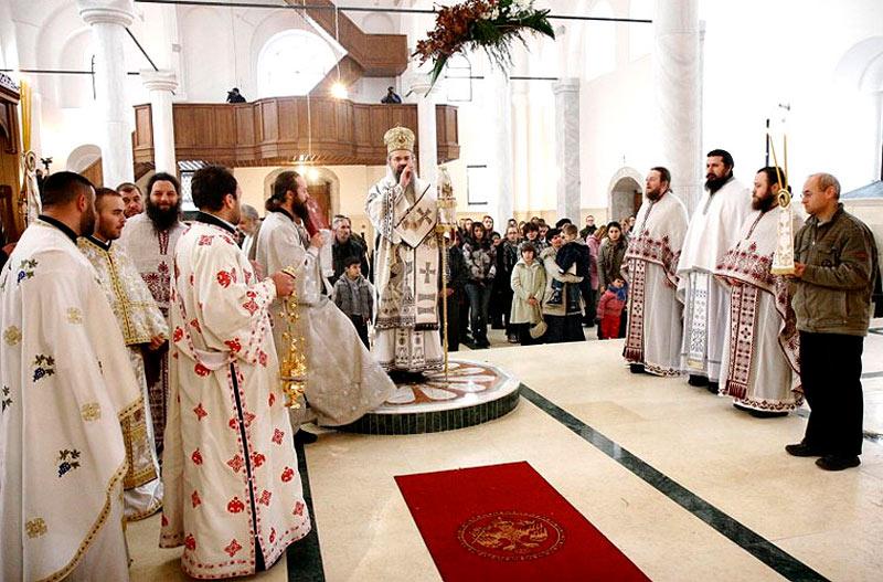 Рождественская служба в храме Св.вмч.Георгия в Призрене